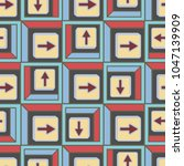 seamless abstract pattern with... | Shutterstock .eps vector #1047139909
