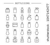 bottle icons set  line design | Shutterstock .eps vector #1047142477
