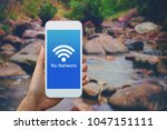 not able to find wifi network... | Shutterstock . vector #1047151111