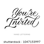 you're invited. elegant hand... | Shutterstock .eps vector #1047153997
