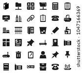 flat vector icon set   trash...   Shutterstock .eps vector #1047166369