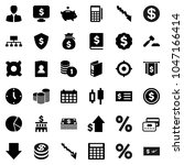 flat vector icon set   dollar... | Shutterstock .eps vector #1047166414