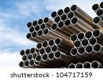 Aluminium Tubes Arranged In A...