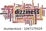 dizziness word cloud concept.... | Shutterstock .eps vector #1047179329