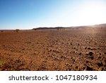 sahara desert in morocco | Shutterstock . vector #1047180934