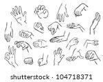 hand gestures illustration | Shutterstock .eps vector #104718371