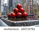 NEW YORK - DECEMBER 26: Christmas Decorations in Rockefeller Center on December 26, 2011 in  New York City. - stock photo