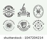 vintage baseball sport logos ... | Shutterstock .eps vector #1047204214