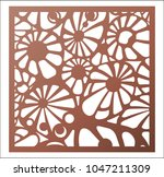 laser cutting square panel.... | Shutterstock .eps vector #1047211309