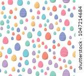 easter seamless pattern.... | Shutterstock .eps vector #1047214684