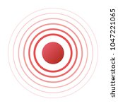 isolated vector red ring. pain... | Shutterstock .eps vector #1047221065