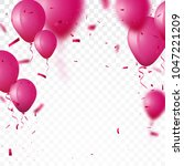 celebration background with... | Shutterstock . vector #1047221209