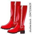 feminine red boots | Shutterstock .eps vector #1047230629