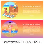 business summer  pages...   Shutterstock .eps vector #1047231271