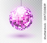 disco ball. vector illustration.... | Shutterstock .eps vector #1047233839