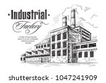 industrial distillery factory.... | Shutterstock .eps vector #1047241909