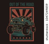 out of the road illustration   Shutterstock .eps vector #1047249859