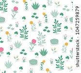 seamless floral pattern.... | Shutterstock .eps vector #1047259879