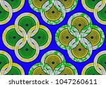textile fashion african print... | Shutterstock .eps vector #1047260611