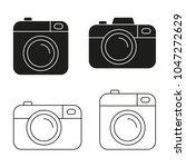 camera vector icon minimalistic ... | Shutterstock .eps vector #1047272629