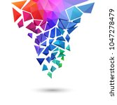 low poly background  shattering ... | Shutterstock .eps vector #1047278479