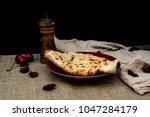 traditional indian naan garlic... | Shutterstock . vector #1047284179