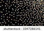 big gold confetti. festive... | Shutterstock .eps vector #1047286141