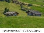 summer in alpe di siusi seiser... | Shutterstock . vector #1047286849