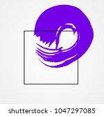 paint brush abstract purple... | Shutterstock .eps vector #1047297085