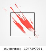 paint brush abstract red... | Shutterstock .eps vector #1047297091