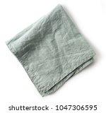 folded linen napkin isolated on ... | Shutterstock . vector #1047306595