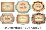 vintage labels | Shutterstock .eps vector #104730674