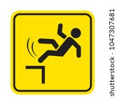 danger of falling. fall hazard... | Shutterstock .eps vector #1047307681