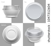vector round plastic container... | Shutterstock .eps vector #1047312604