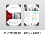 front and back cover of a... | Shutterstock .eps vector #1047313054