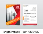 front and back cover of a... | Shutterstock .eps vector #1047327937
