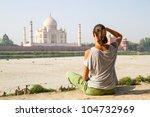 relaxing at taj mahal | Shutterstock . vector #104732969