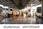 bus terminal  there are many... | Shutterstock . vector #1047331645