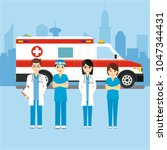 health and ambulance | Shutterstock .eps vector #1047344431