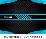 abstract metallic blue black... | Shutterstock .eps vector #1047345661