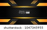 tech black background with... | Shutterstock .eps vector #1047345955