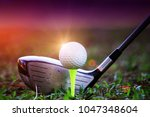 The Golf Club And Golf Ball...