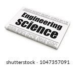 science concept  newspaper... | Shutterstock . vector #1047357091