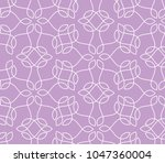 ornamental pink vector pattern  | Shutterstock .eps vector #1047360004