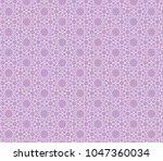 ornamental pink vector pattern  | Shutterstock .eps vector #1047360034