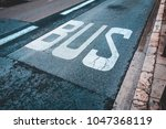 Bus Traffic Sign On The Road A...
