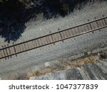Drone View Of Train Tracks In...