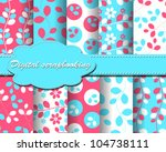 set of vector flower paper for... | Shutterstock .eps vector #104738111
