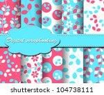 set of vector flower paper for... | Shutterstock .eps vector #104738111