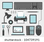 office icons | Shutterstock .eps vector #104739191